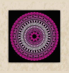 tribal rounded pattern vector image