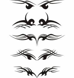 tribal tattoo samples vector image