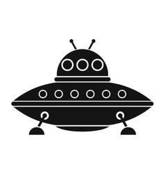 UFO black simple icon vector
