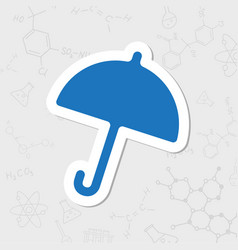 umbrella icon vector image