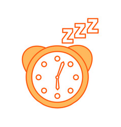 Watch alarm with zzzz vector