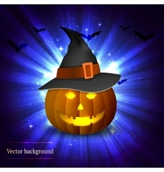 Pumpkin on a bright background vector image