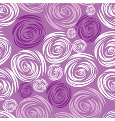 seamless pink rose pattern vector image vector image