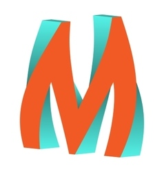 Twisted Letter M Logo Icon Design Template Element vector image vector image