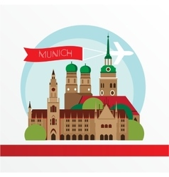 Munich skyline detailed silhouette Trendy vector image