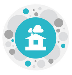 Of air symbol on shelter icon vector