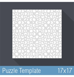 Puzzle Template vector image vector image