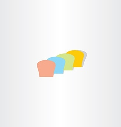 abstract colorful bread logo vector image vector image