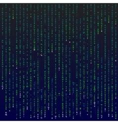 Matrix background with symbols vector image
