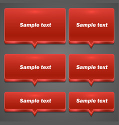 red chat frame all sizes vector image vector image