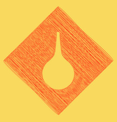 Enema sign red scribble icon obtained as vector