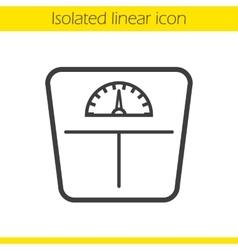 Floor scales icon vector image vector image