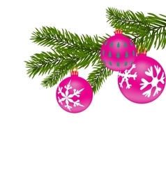 New year or christmas background fir tree branch vector