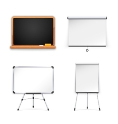 Set of Boards for Presentation vector image