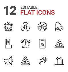 12 alert icons vector
