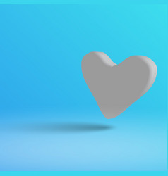 a light heart on a blue background in 3d style vector image