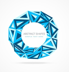 Abstract trianlge background vector