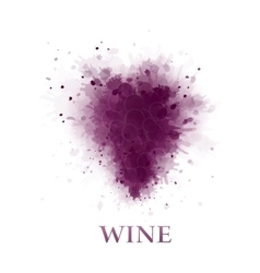 Abstract wine grape vector