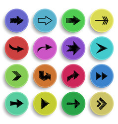 arrow sign collection vector image