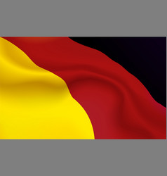 background germans flag in folds tricolour frg vector image