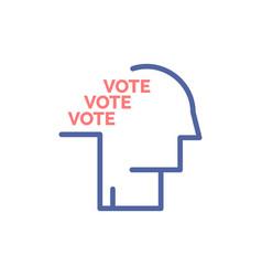 Ballot election poll referendum speech flat color vector