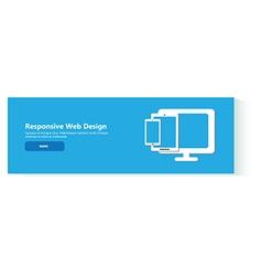 banner responsive web design vector image