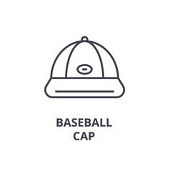 baseball cap line icon outline sign linear vector image vector image