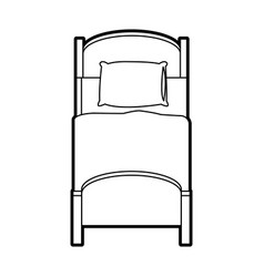Bed topview icon image vector