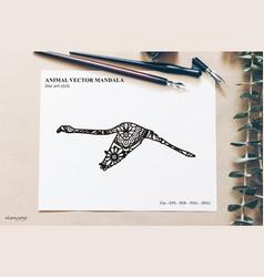 Bird mandala vintage decorative elements vector