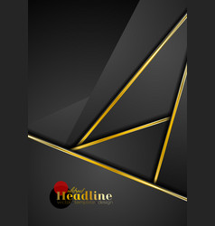 black abstract corporate background with golden vector image