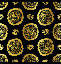 Black on gold polka dots pattern seamless vector