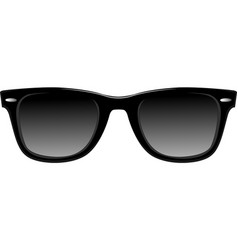 Black sunglasses vector