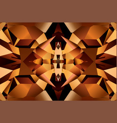 brown pattern with surface of crystal rauhtopaz vector image