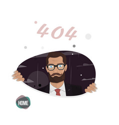 business man page not found error 404 vector image