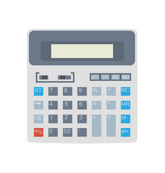 calculator icon isolated design business button vector image