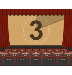 Cinema auditorium with seats vector