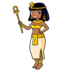 Cleopatra ancient egypt vector