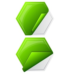 Collection hexagon sticker vector image