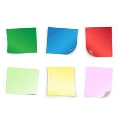 Colored empty papers vector