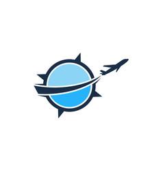 Compass travel logo icon design vector