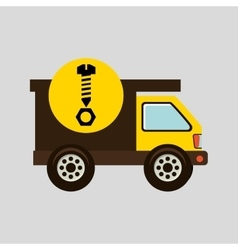 construction gear icon screw nut vector image