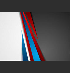 Contrast red and blue tech corporate background vector