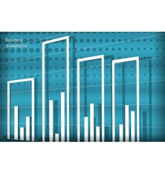 diagram business background vector image