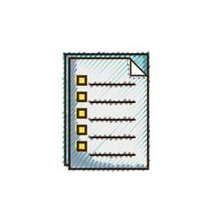 Doodle documents paperwork information archive vector