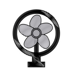Drawing electric fan appliance air device vector