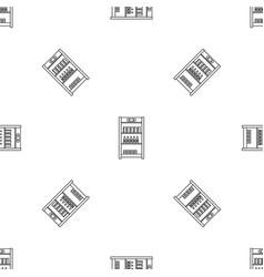 drinks refrigerator pattern seamless vector image