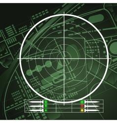 Drone radar screen vector