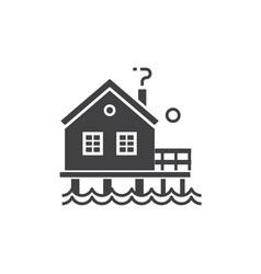 fisherman stilt house icon vector image