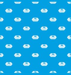fresh vegetables pattern seamless blue vector image