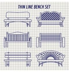 garden bench set on notebook background vector image